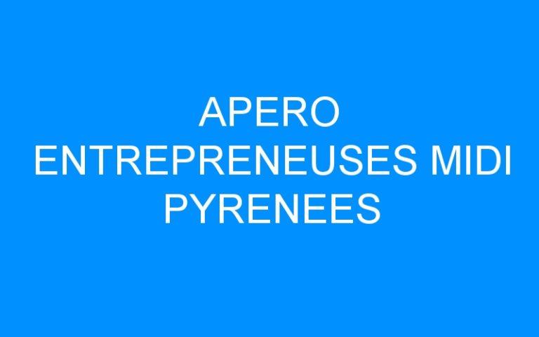 APERO ENTREPRENEUSES MIDI PYRENEES